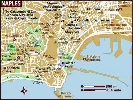 Map Of Naples Italy tourist attractions Map Of Naples