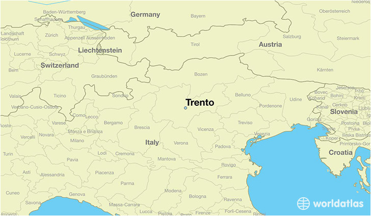 where is trento italy trento trentino south tyrol map