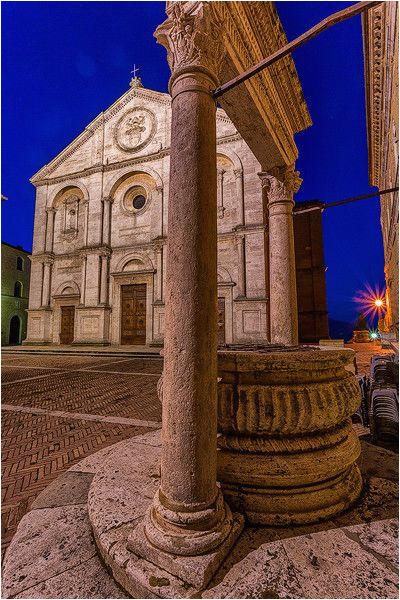 pienza square pienza province of siena tuscany italy toscana