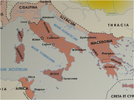 this map at domus romana shows why ceaser chose luca to meet with