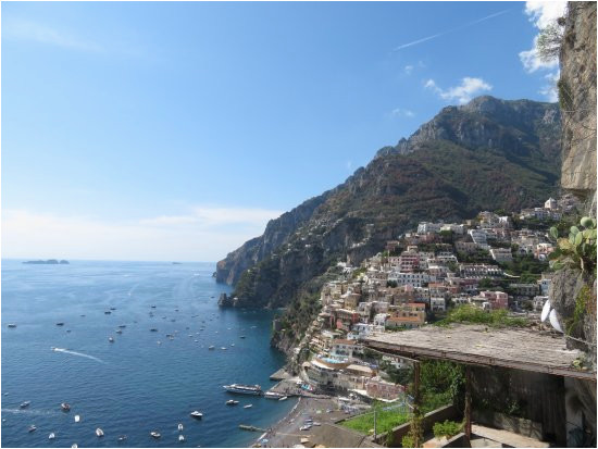 view from the adam eve restaurant positano amalfi coast