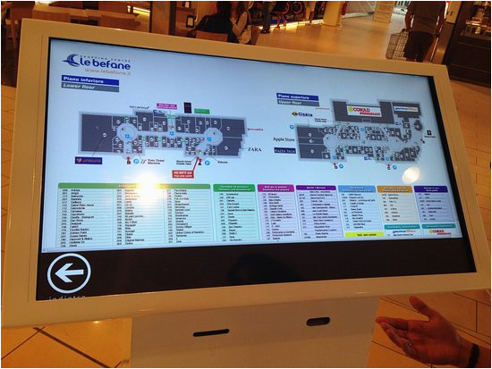 very comfortable map picture of shopping center le befane rimini