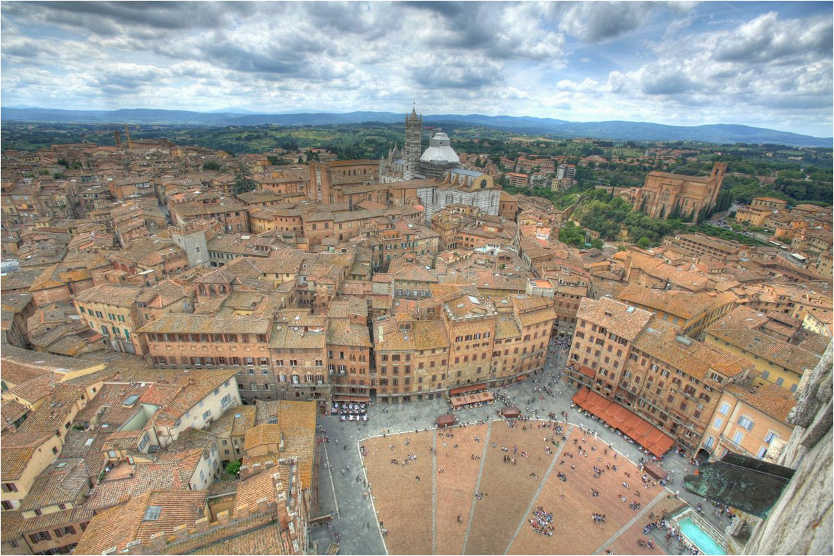 siena italy a beautiful city with all the preserved history and