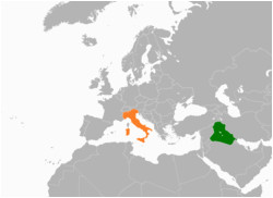 Map Of Slovenia and Italy Iraq Italy Relations Wikipedia