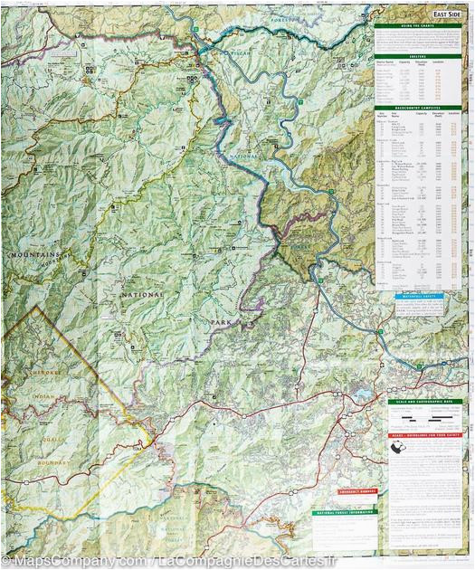 Map Of Smoky Mountains Tennessee Trails Map Of Great Smoky ...