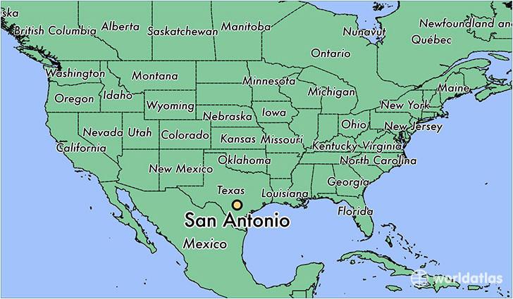 where is san antonio tx san antonio texas map worldatlas com