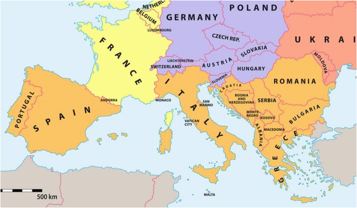 Map Of Spain France Border.Map Of Spain France And Italy Which Countries Make Up Southern