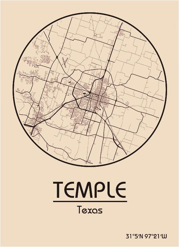 karte map tempel texas vereinigte staaten von amerika