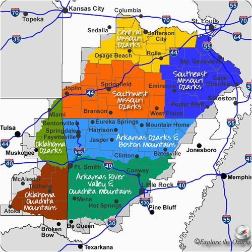 maps maps and more maps of the ozarks ouachita mountains