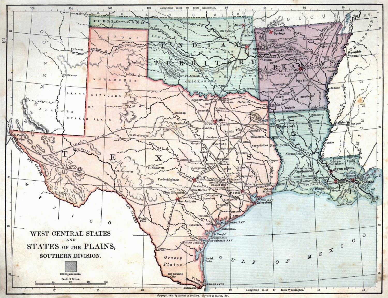 Map Of Texas and Oklahoma | secretmuseum