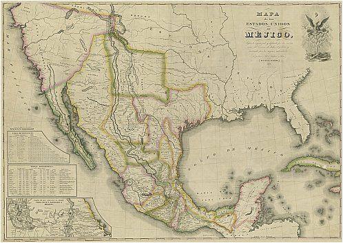 Mejico O Mexico Mapa.Map Of Texas Border With Mexico Mapa De Los Estados Unidos