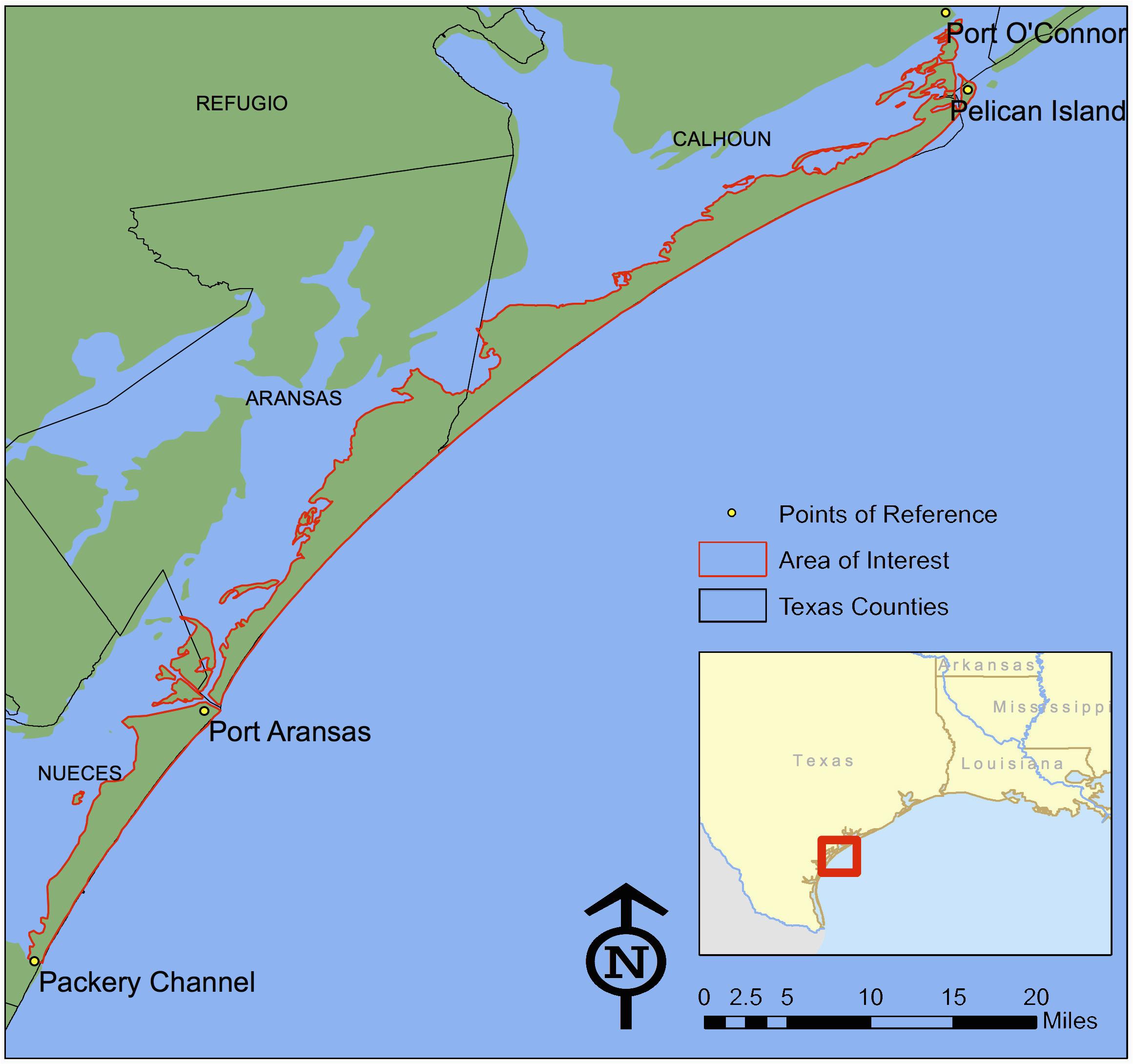 map of texas coastline printable maps