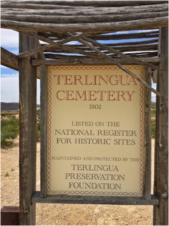 terlingua cemetery sign picture of ghost town texas terlingua