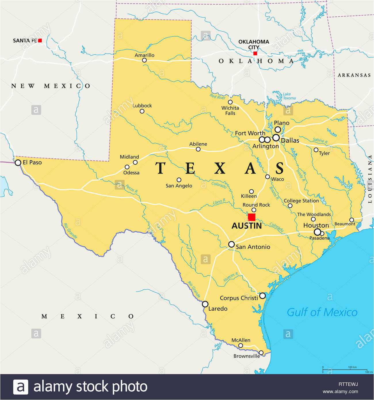 texas map stock photos texas map stock images alamy