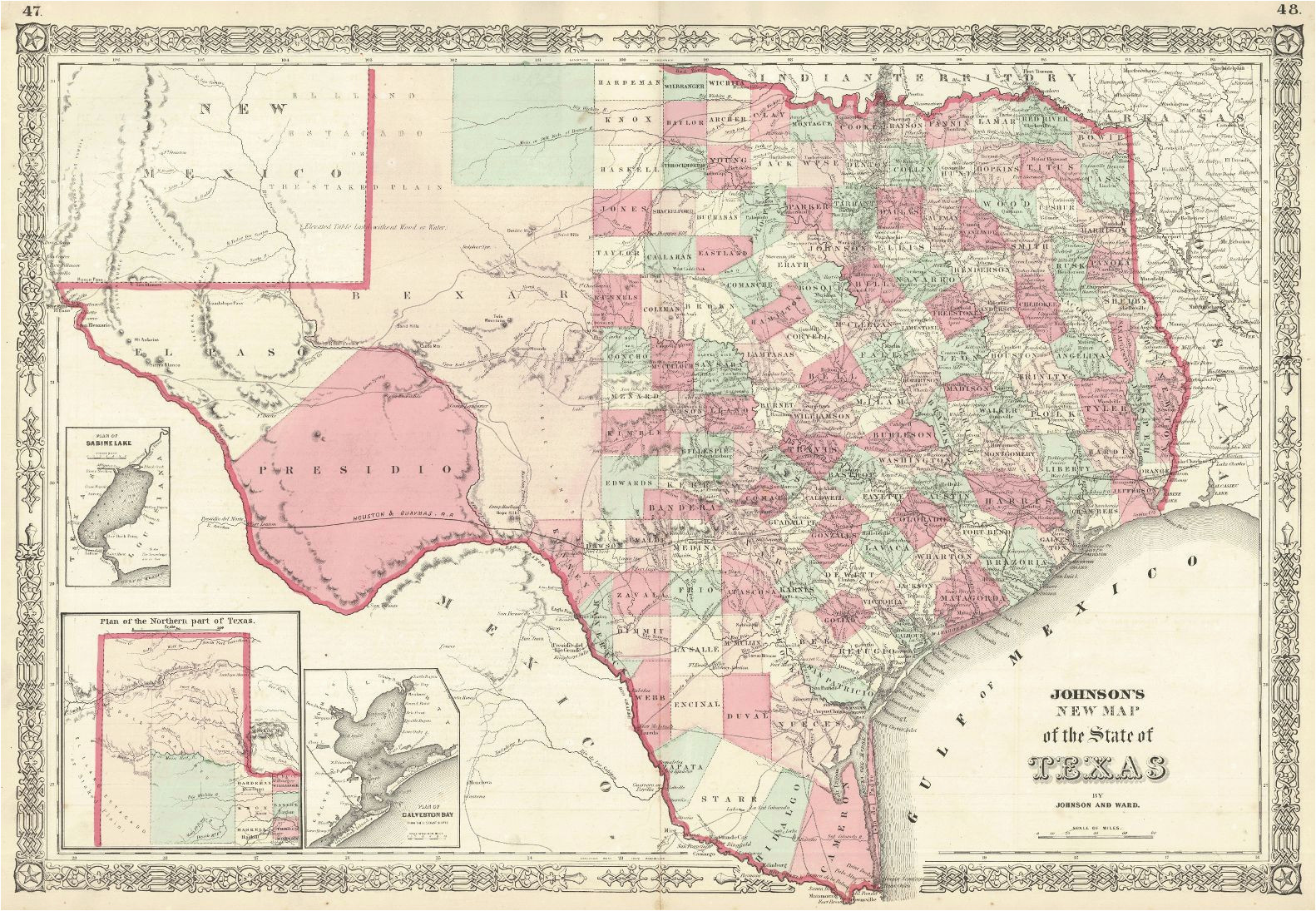 Map Of the Texas Panhandle Johnson S New Map Of the State Of Texas Johnson Ward Johnson