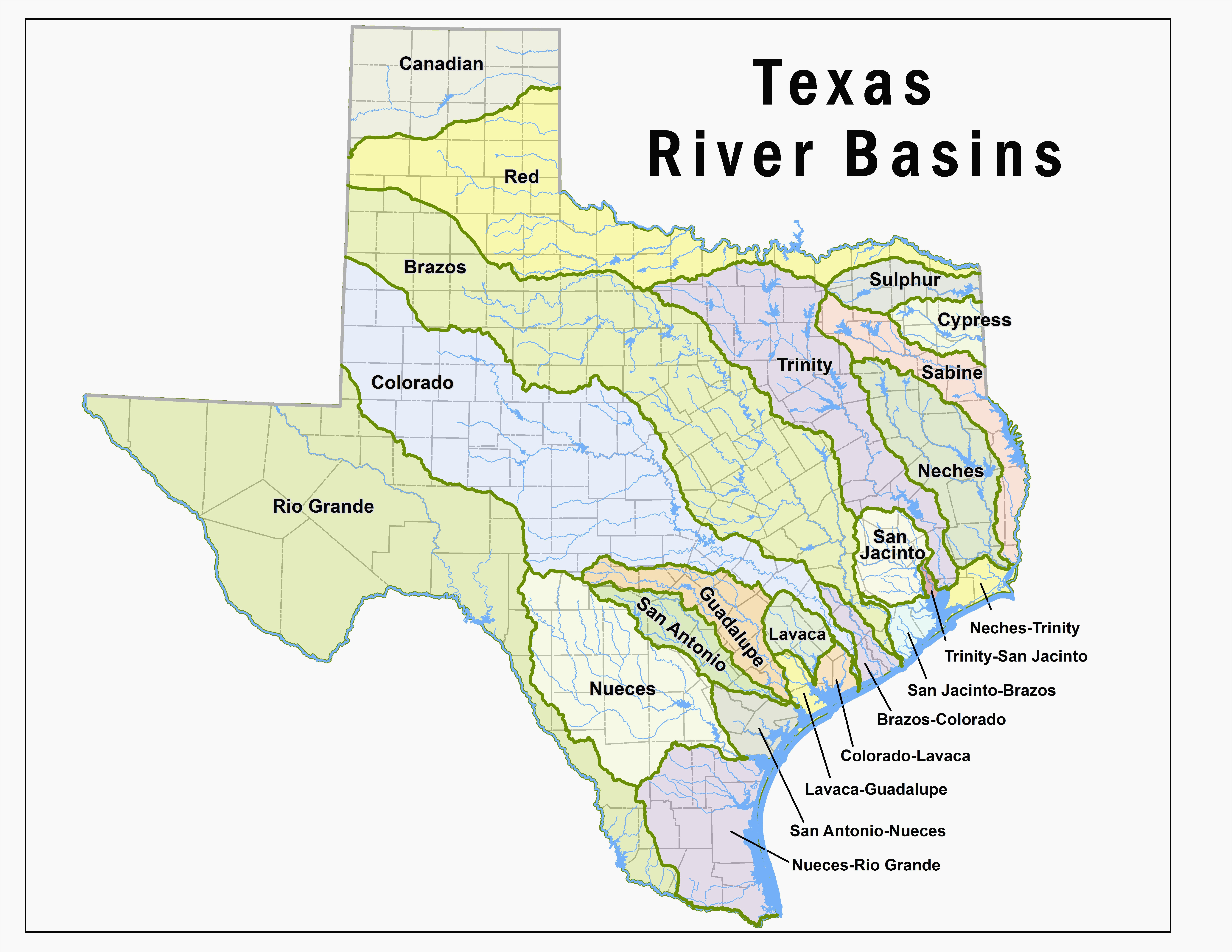 where is the colorado river located on a map texas lakes map fresh