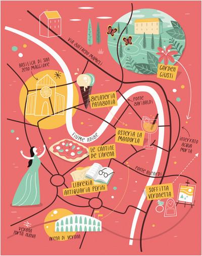 Map Of Verona Italy Romeo And Juliet Secretmuseum