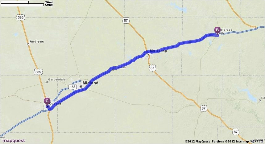 Map Quest Texas Driving Directions From Odessa Texas to ...