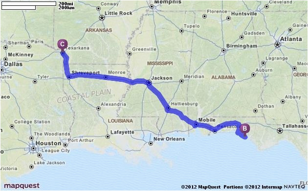 Map Quest Texas Driving Directions From Texarkana Texas to ...