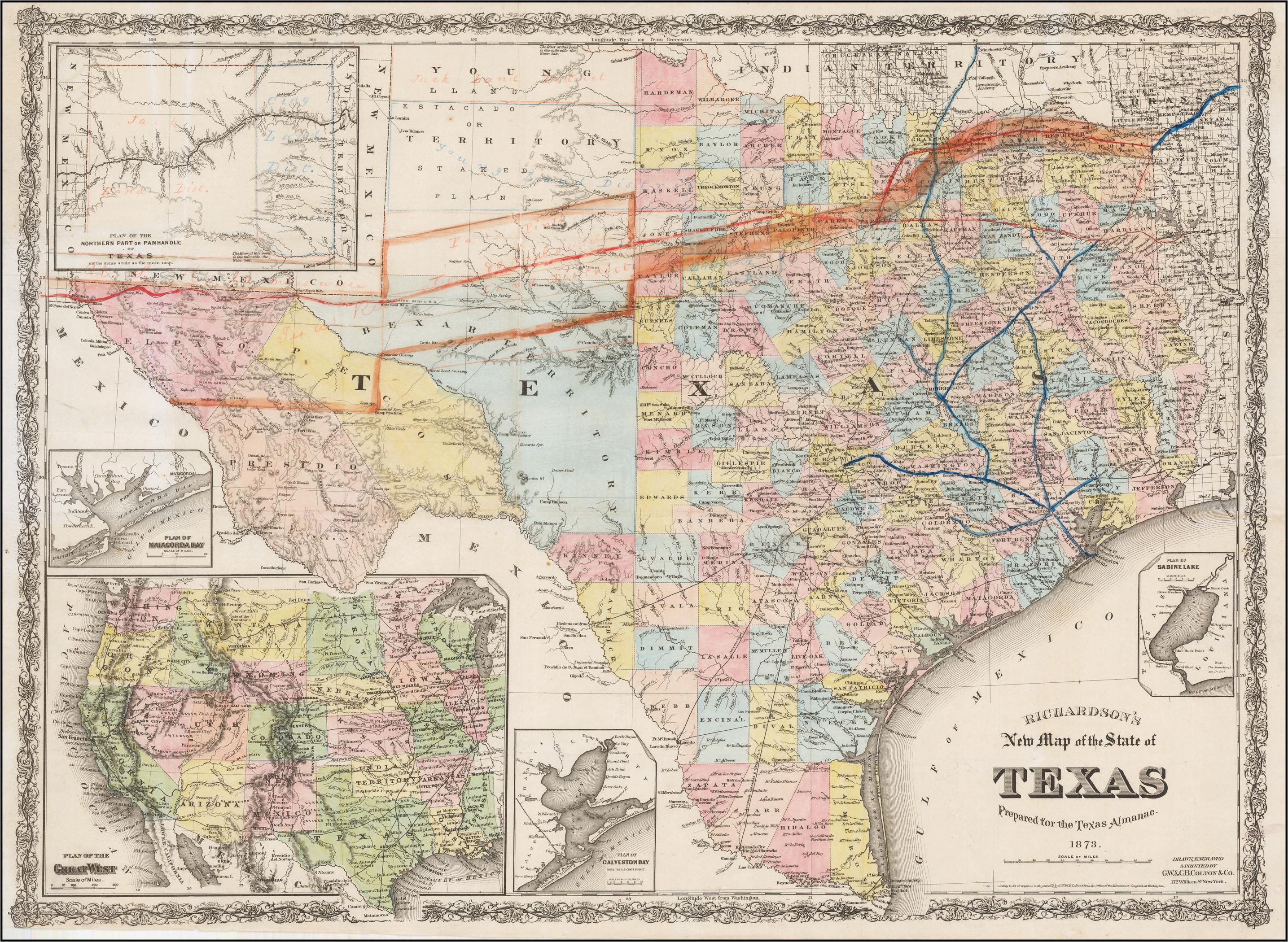 Map Of Texas New Mexico.Map Richardson Texas Map Of New Mexico And Texas Beautiful Map Of