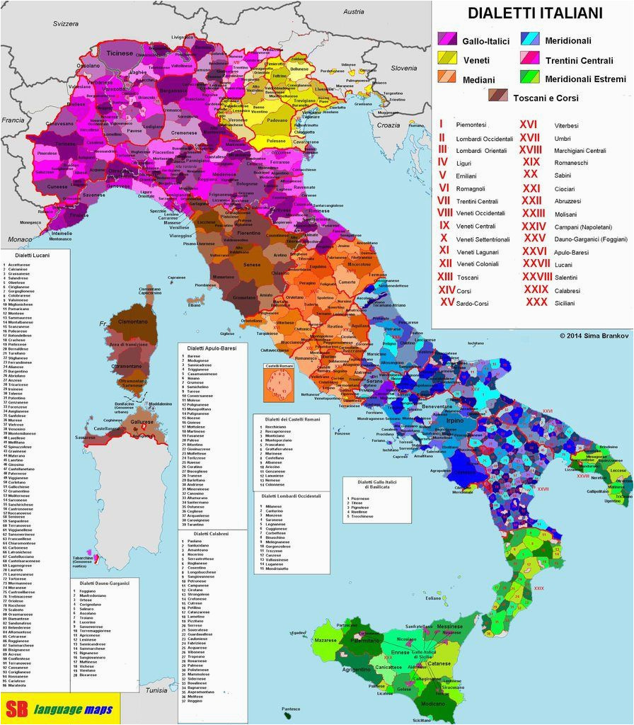 italian dialects 1792x2048 click here for more maps thelandofmaps