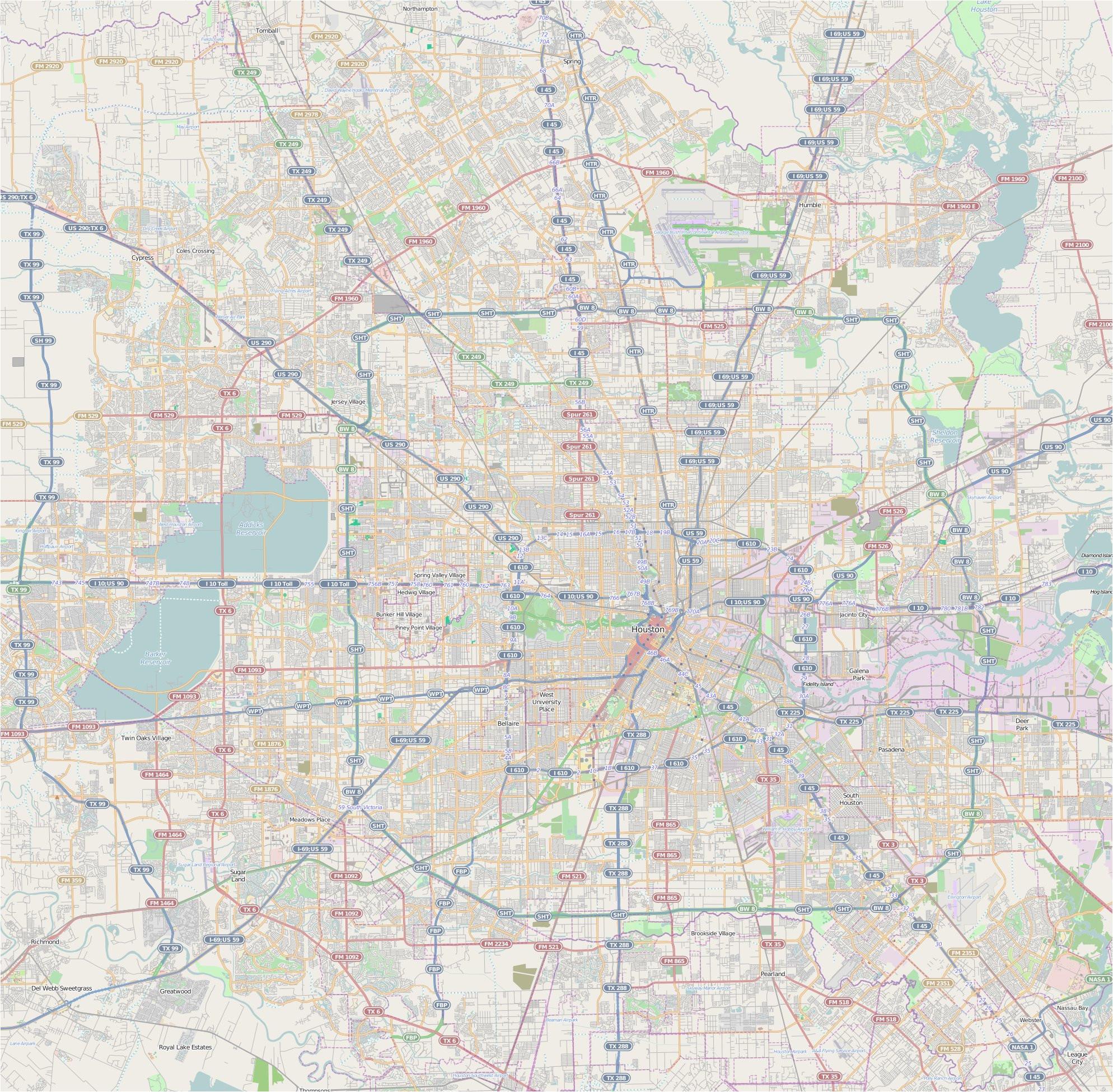 Map to Houston Texas File Map Houston Jpg Wikimedia Commons