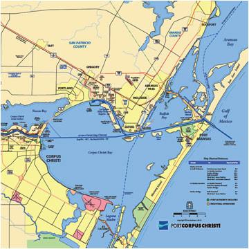 maps a port of corpus christi