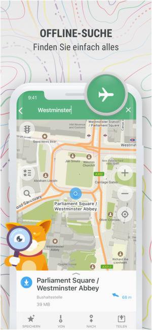 maps me karte und routenplaner im app store