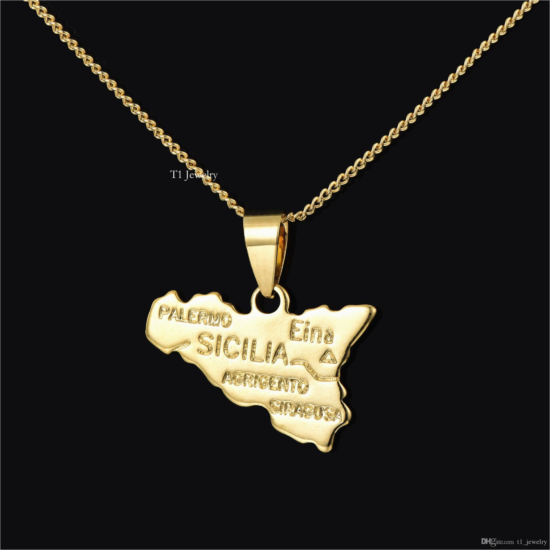 2019 italy copper plated 18k golden country map theme sicily map