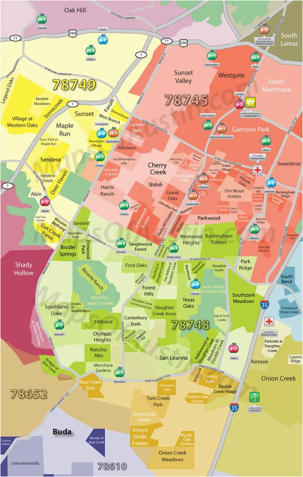 Map Of Texas University Austin.Maps University Of Texas South Austin Tx Neighborhood Map Austin