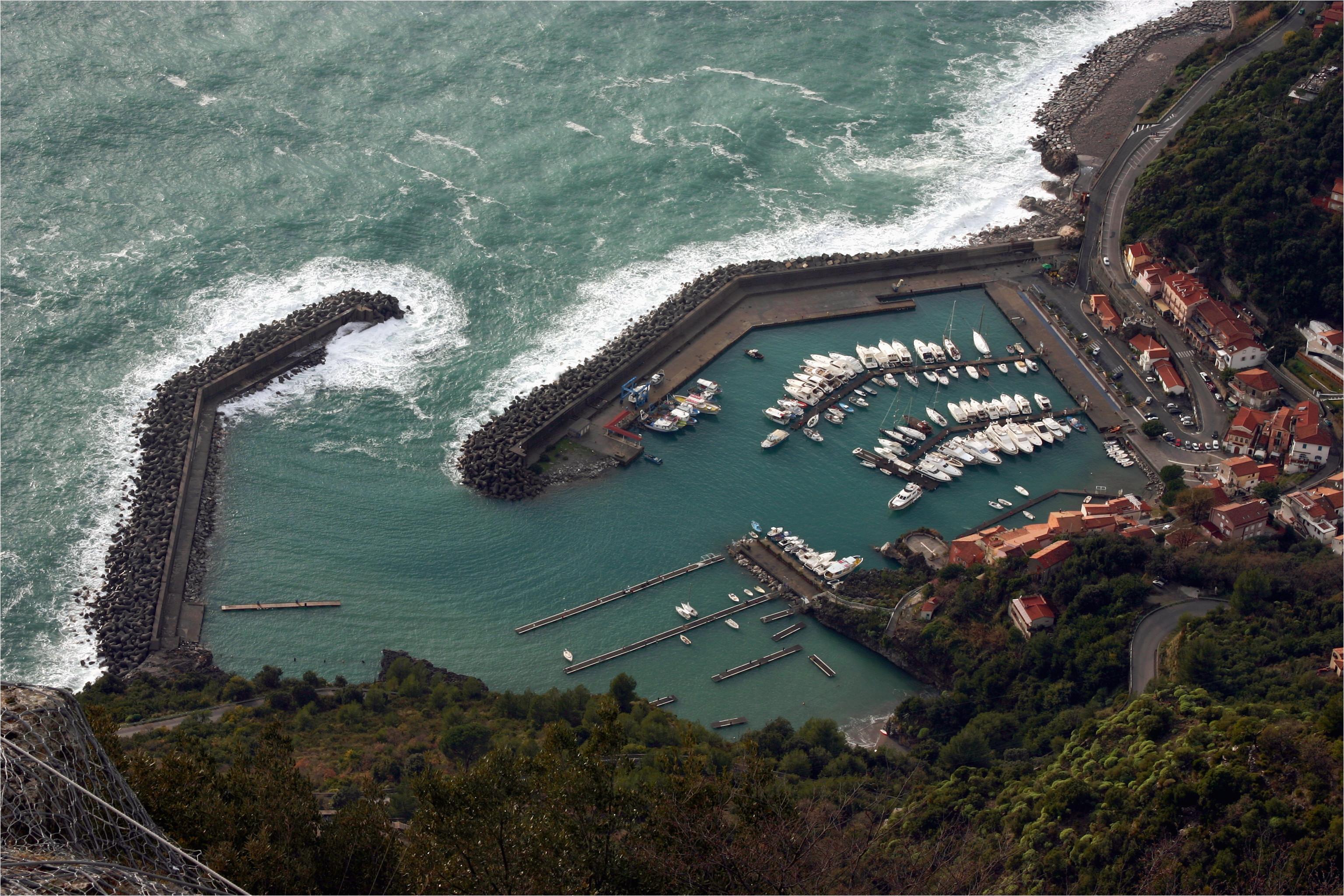file view of marina di maratea from cristo redentore italy 2015 2