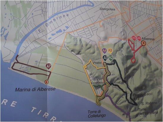 mapa pogla dowa parku picture of parco naturale della maremma