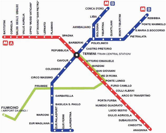 Rome Metro Subway Map.Metro Map Of Rome Italy Rome Metro Map Pdf Fysiotherapieamstelstreek