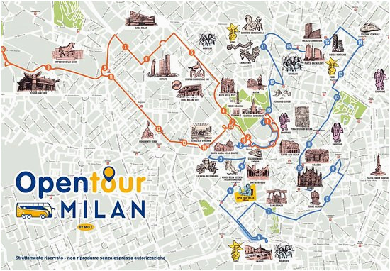 mappa open tour milan picture of open tour milan milan tripadvisor