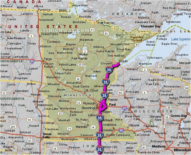 Minnesota Road Maps Minnesota Hwy Map Secretmuseum ...