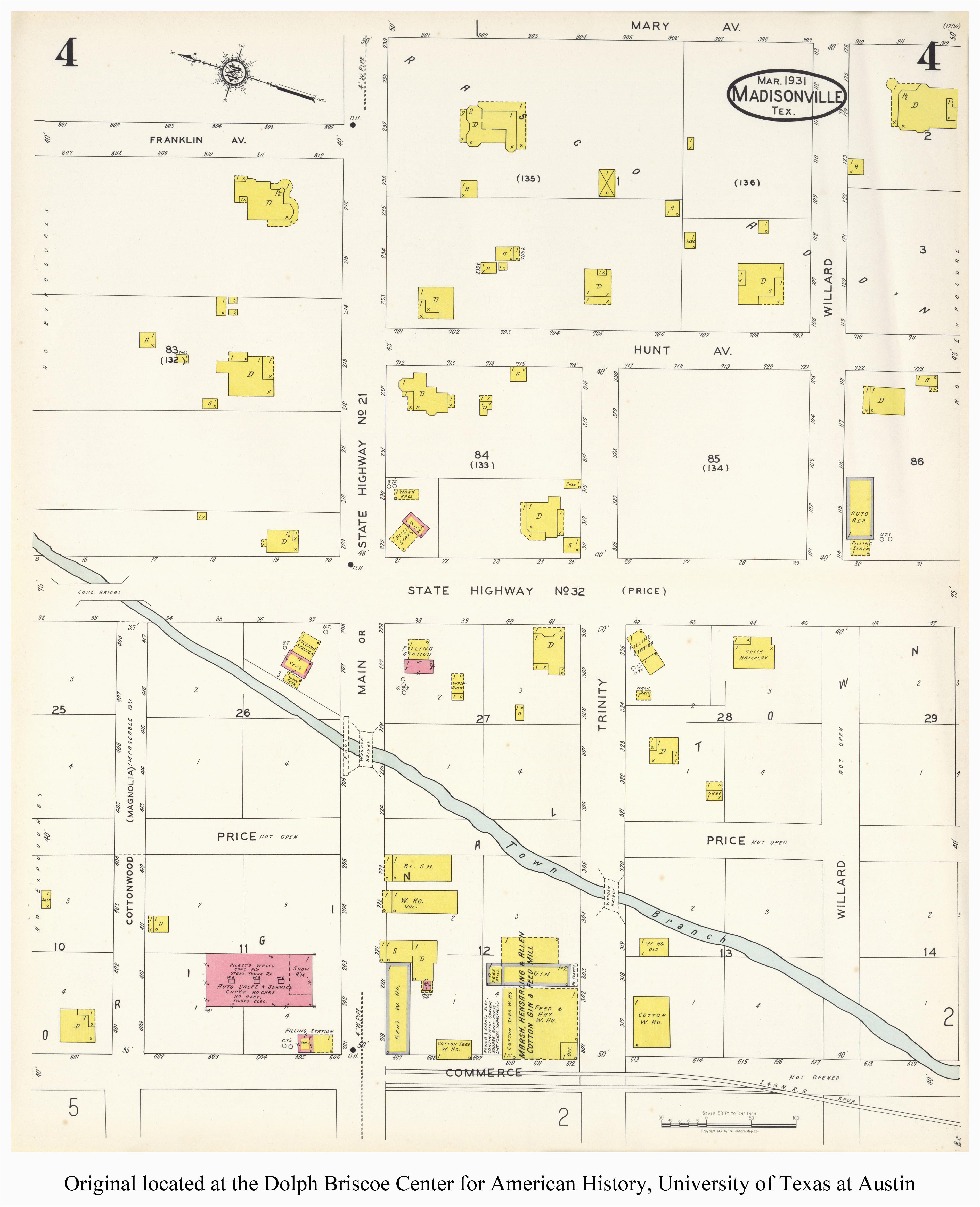 Mt Vernon Texas Map Sanborn Maps Of Texas Perry Castaa Eda