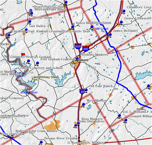 hill county texas map business ideas 2013