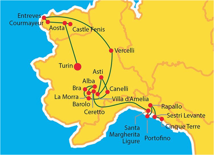 map of north west italy