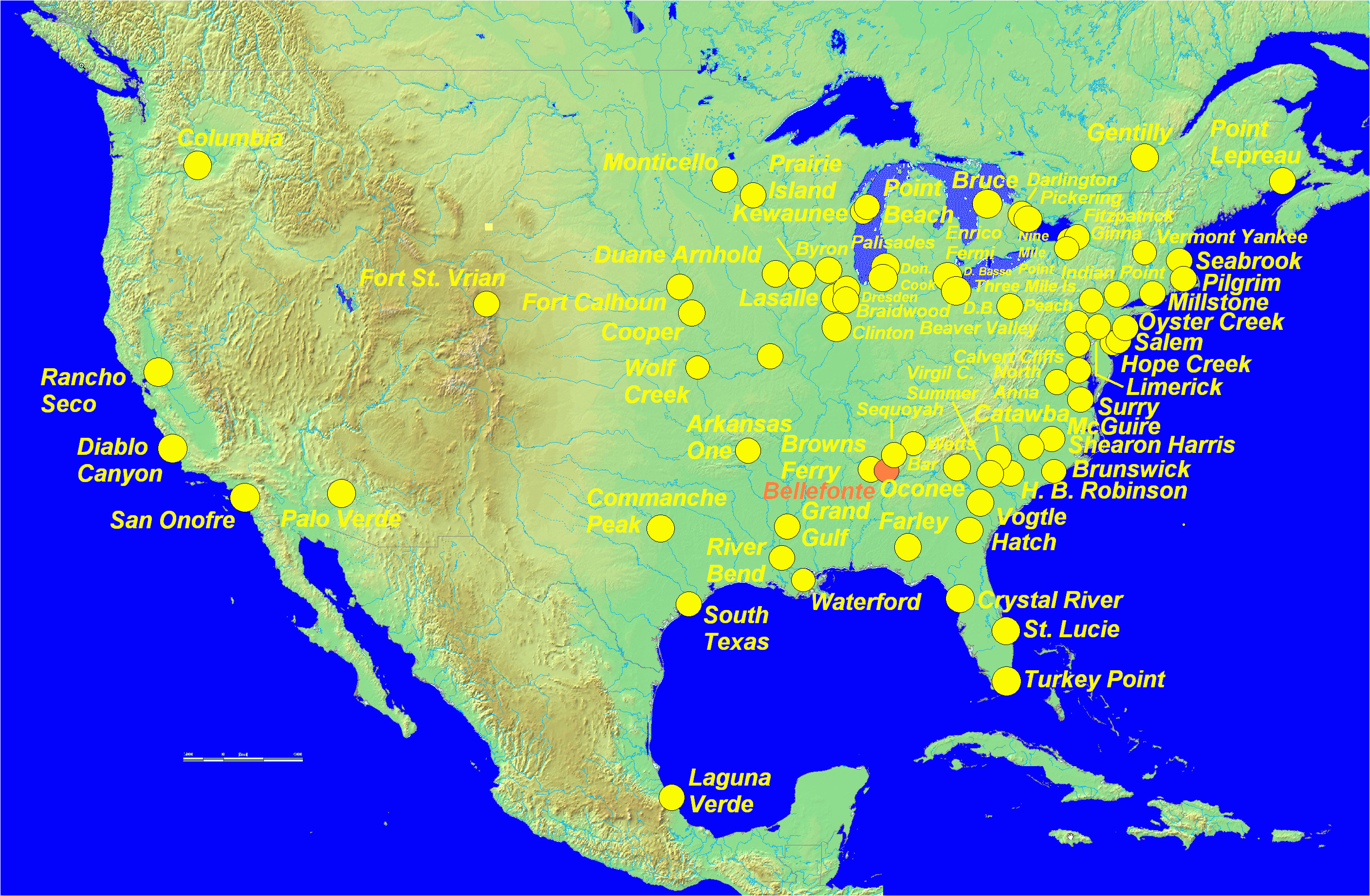 Nuclear Plants In Texas Map List Of Nuclear Power Plants In ...