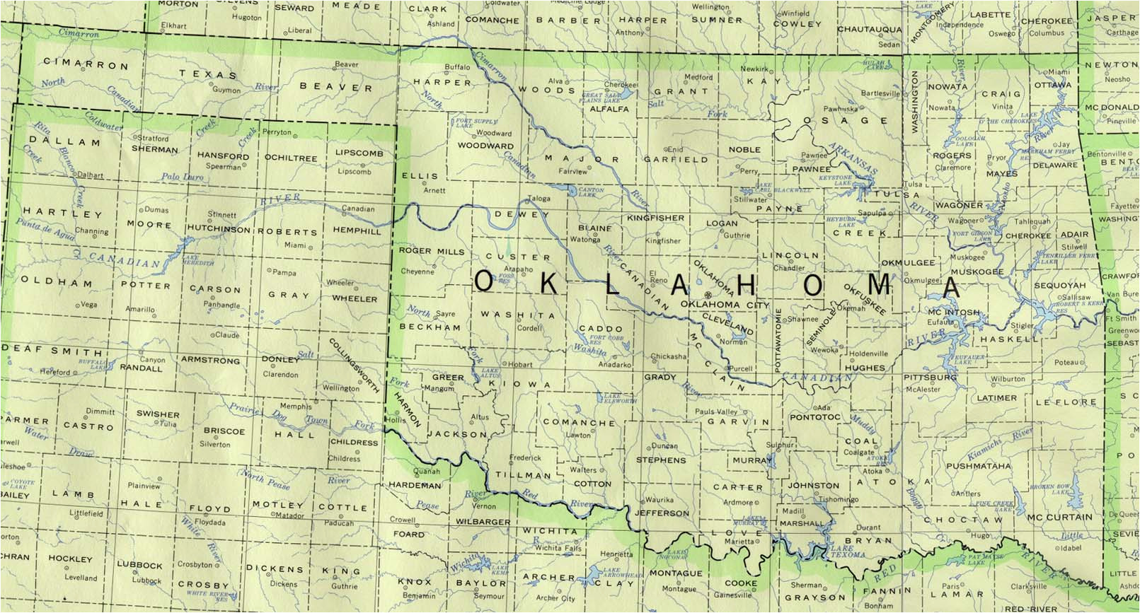 oklahoma maps perry castaa eda map collection ut library online