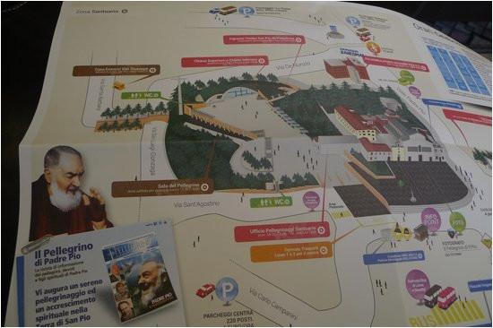 the map picture of chiesa di san pio san giovanni rotondo