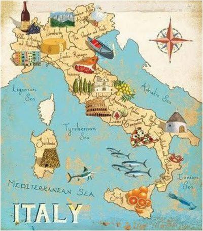 italy by gumbo illustration travel italy map italy travel italy