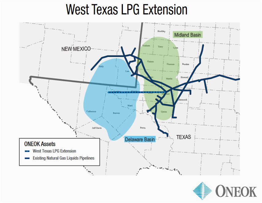 delaware basin map luxury eok martin midstream to expand west texas