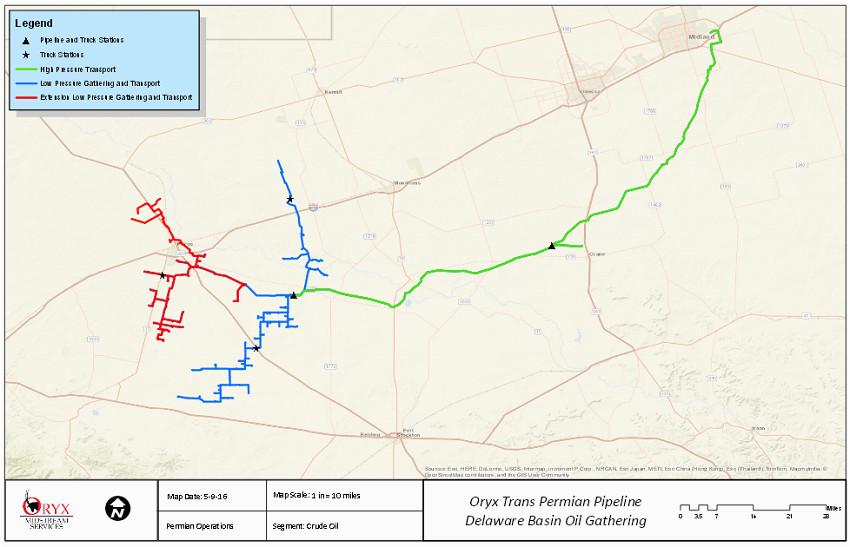 oryx seeks extension of delaware basin crude gathering oil gas