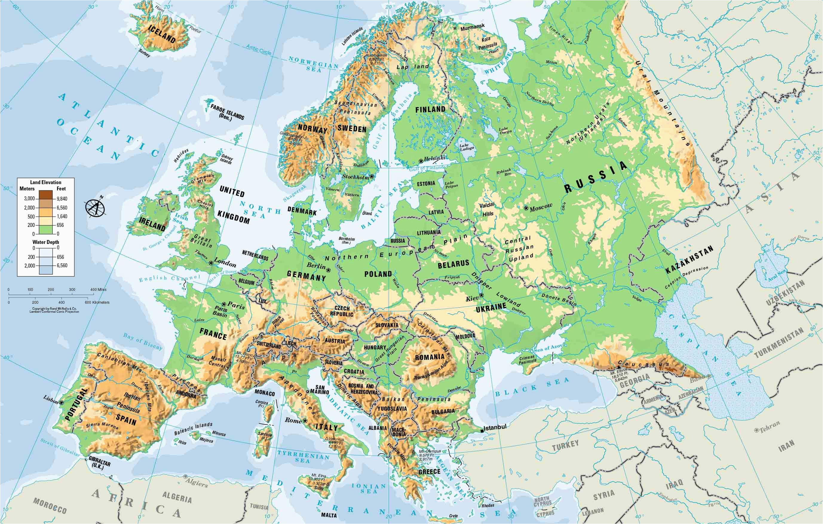 Physical Map Of Tennessee Map Of East Europe and asia Jimmy ...