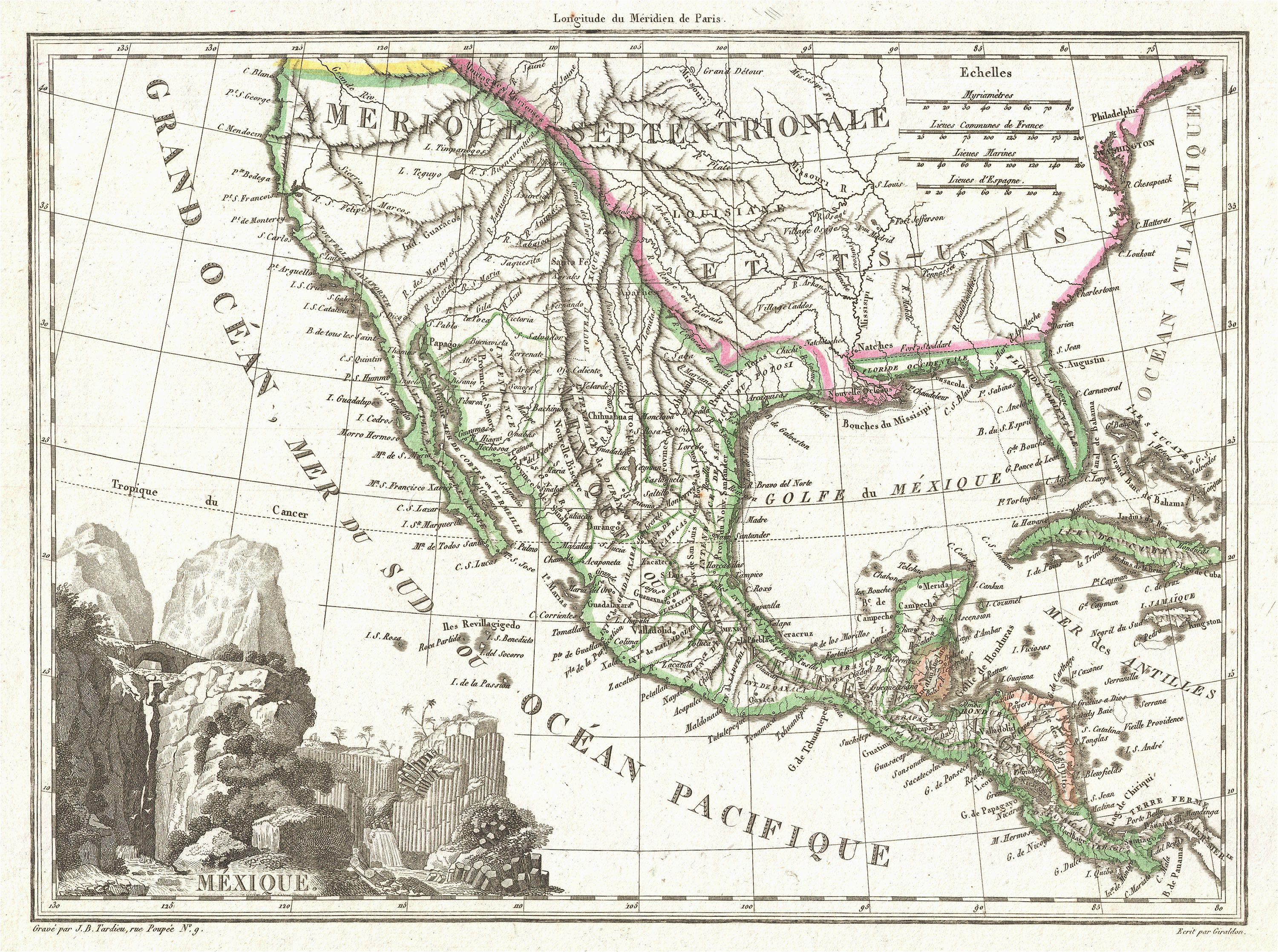 file 1810 tardieu map of mexico texas and california geographicus