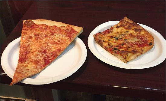 new york slice and grandma pizza slice picture of sal s little