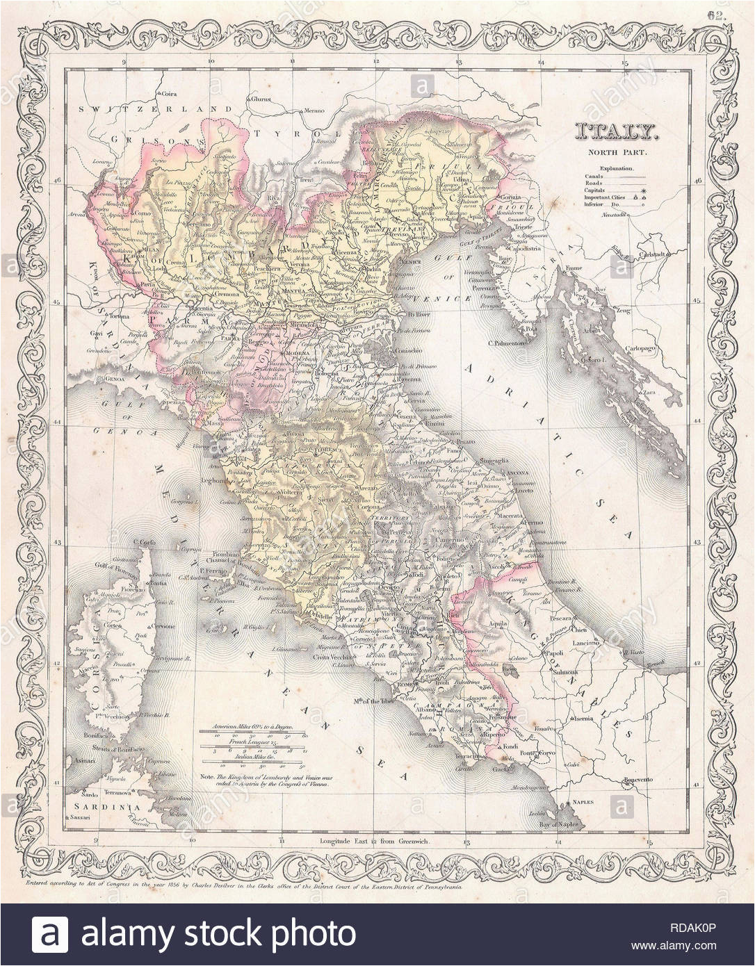map northern italy stock photos map northern italy stock images