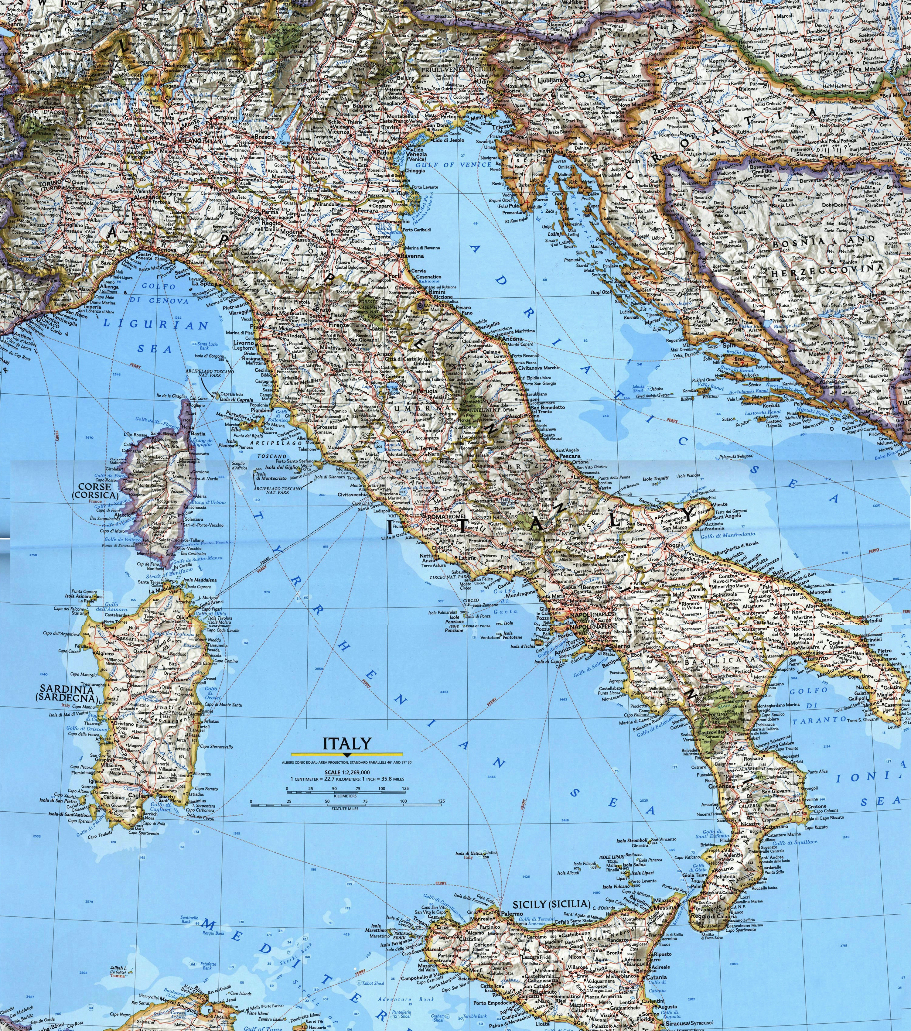 italy maps printable maps of italy for download