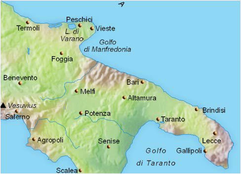 maps and places to see in puglia